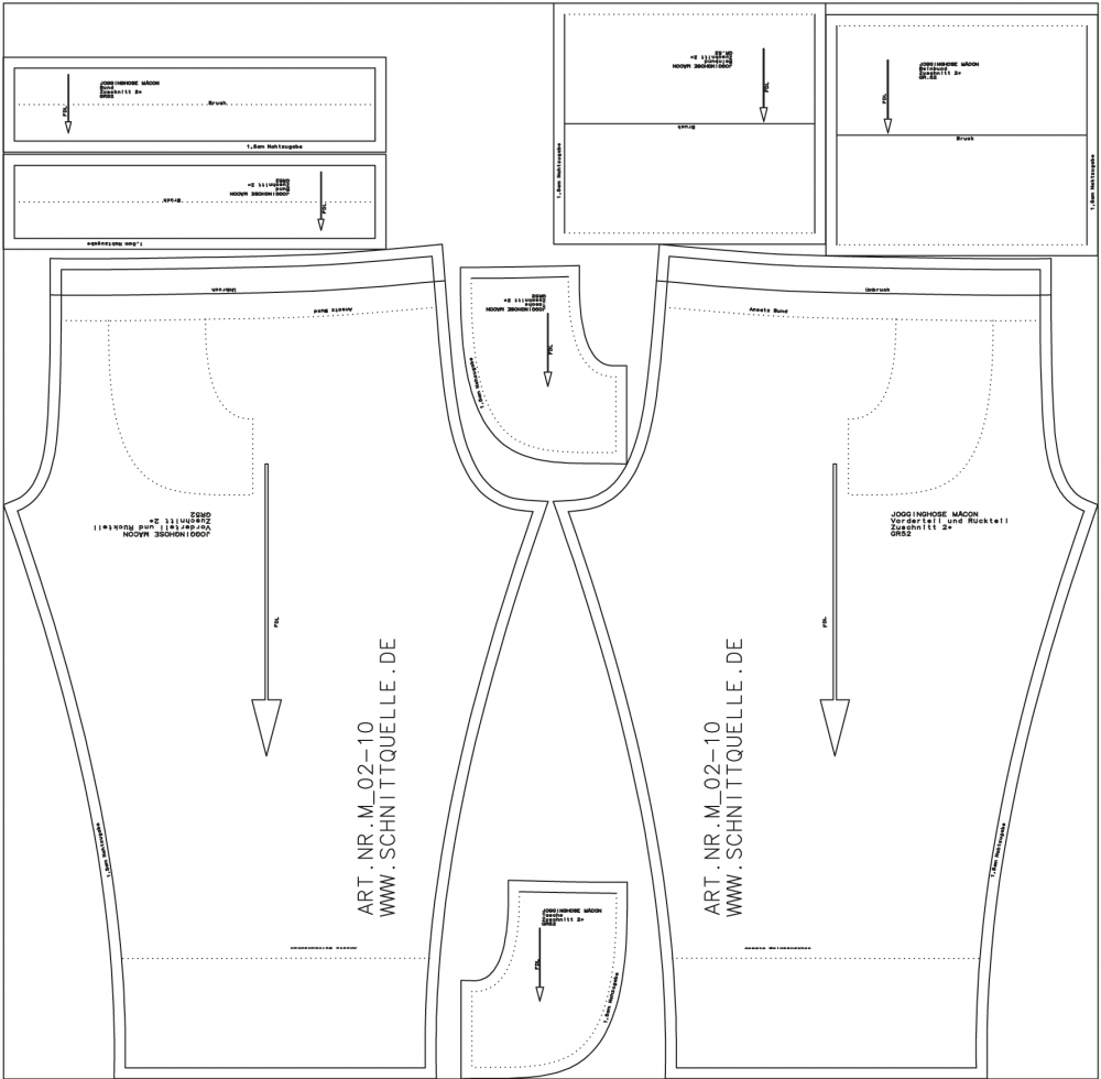 schnittquelle schnittmuster shop schnittmuster jogginghose m con. Black Bedroom Furniture Sets. Home Design Ideas