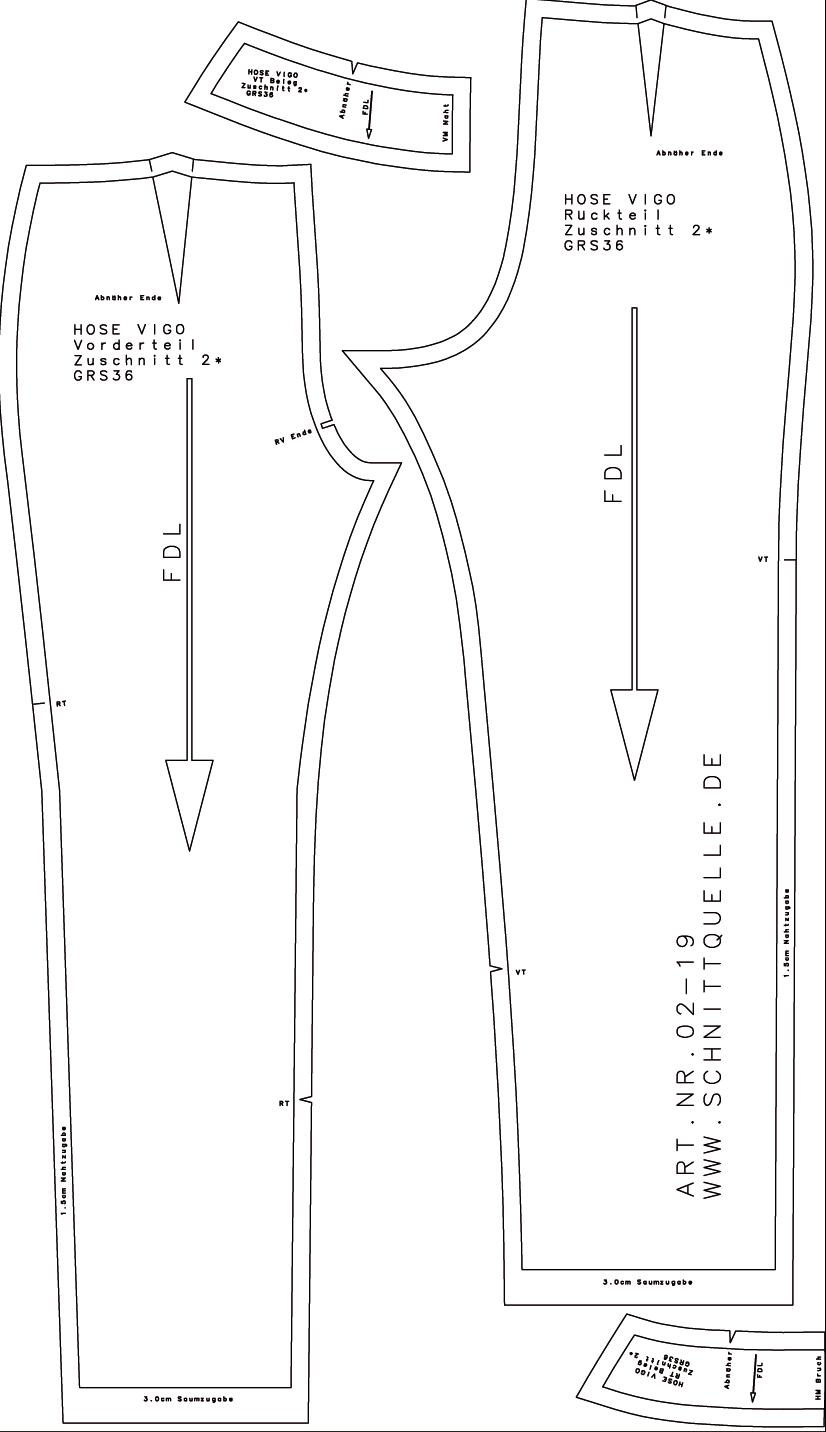 schnittmuster von schnittquelle hose vigo ebay. Black Bedroom Furniture Sets. Home Design Ideas
